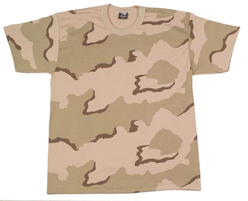 3 Color Desert T-Shirt Just like the soldiers wear