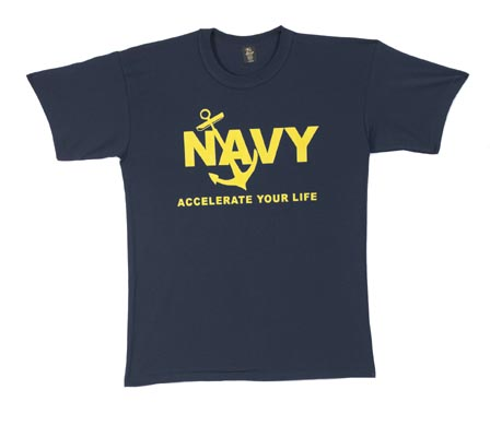 Navy Accelerate Your Life T-shirt
