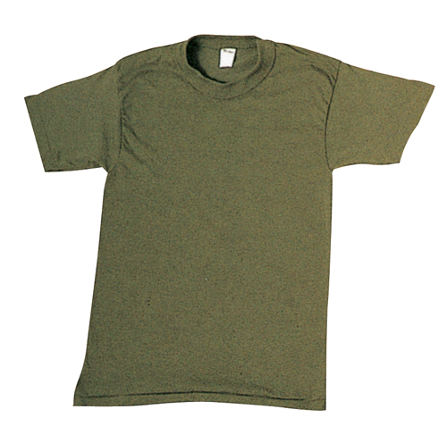 Olive Drab Cotton T-Shirt