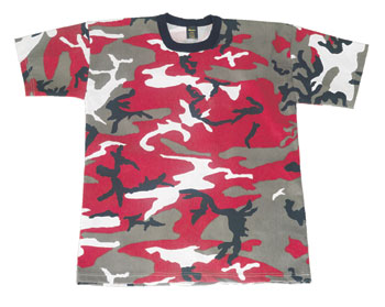 Red Camouflage T shirt