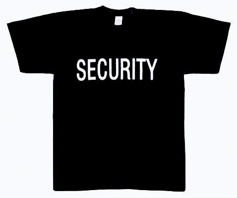 SECURITY T-SHIRT DOUBLE SIDED SECURITY SHIRTS