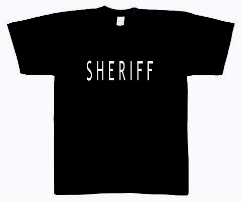SHERIFF T-SHIRT DOUBLE SIDED SHERIFF TEE