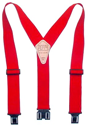 2 Inch Red Perry Suspenders