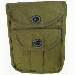 2 POCKET CANVAS POUCHES Army/Navy favorite