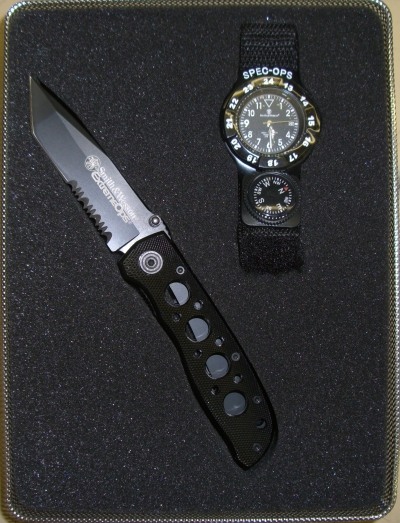Spec Ops Tactical Set-Knife and Watch