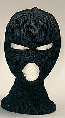 3 Hole Face Mask Black Acrylic