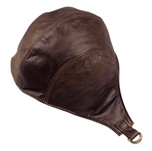 Brown Leather Snoopy Helmet