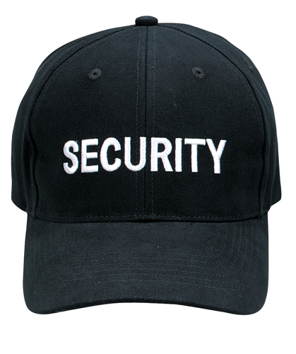 Security Cap Black with Embroidered Logo