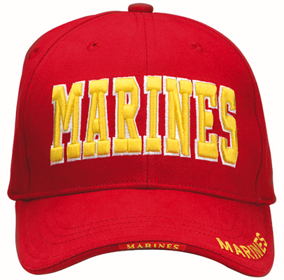 Red -Gold USMC Cap-Low Profile