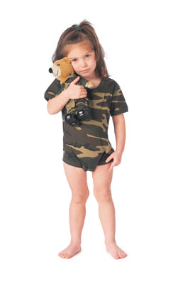 Woodland Camo Bodysuit G.I. Infant