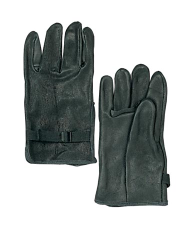 GI Black Leather Glove Shells-Heavy Duty Leather Gloves