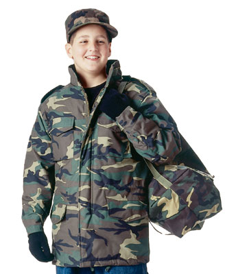 Kids Camoflage Field Jacket