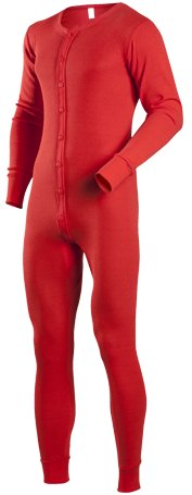 Red Union Suit Old Fashioned Comfort