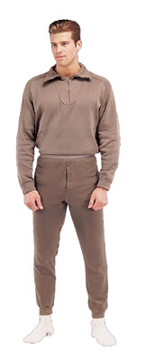 GI POLYPRO ZIP TOPS BROWN
