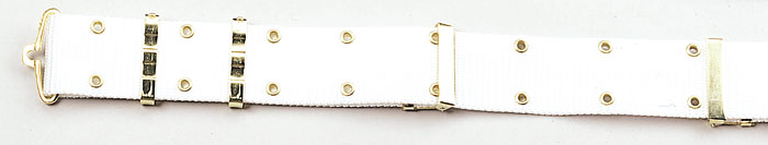 White Nylon Pistol Belt- Great for Parades and Drill Teams