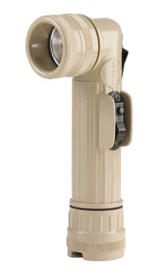 TAN ANGLEHEAD FLASHLIGHT Genuine G.I. Tan Flashlight