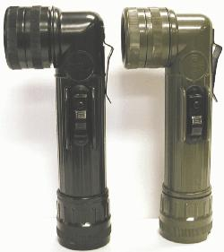 OLIVE ANGLEHEAD FLASHLIGHT Army/Navy Basic for Decades