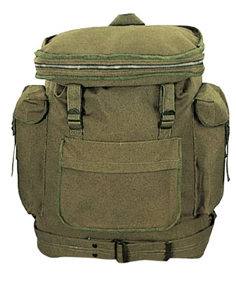 EUROPEAN RUCKSACK Classic Canvas Backpack