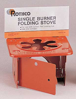 Single Burner Sterno Stove Safe and compact