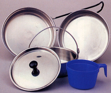 STAINLESS STEEL MESS KIT 5 -pieces
