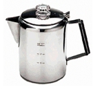 Stainless 9 cup coffee pot Percolator