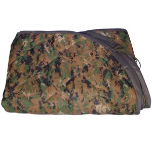 USMC Woodland Digital Poncho Liner Doubles as a blanket