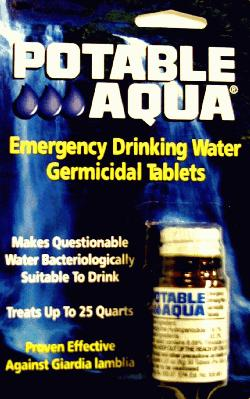 POTABLE AQUA WATER TABLETS Iodine Tabs for Water Purifica