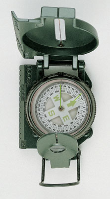 COMPASS GI STYLE OD Metal case marching compass
