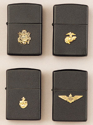 Black Zippo Armed Forces