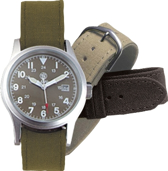 S&W OD And Khaki Watch Gift Set 3 Bands