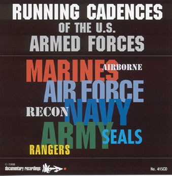 CD Armed Forces Running Cadences