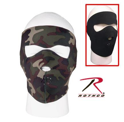 Neoprene Full Mask Black Reverses to Camo