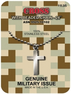 GI Issue Cross & Beaded Chain.