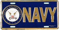 Navy Insignia License Plate