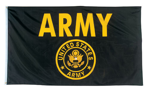BLACK/YELLOW ARMY FLAG #1498