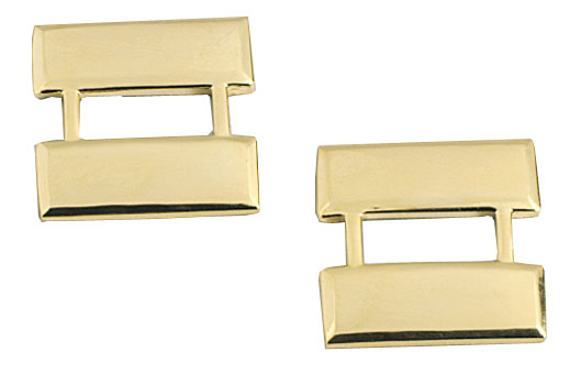 Gold Captain Bars Pin On Rank