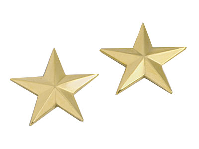 Gold General Stars Pin On