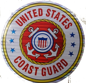 12 Inch Coast Guard Sticker
