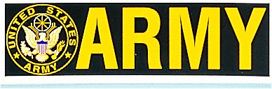 Bumper Sticker- ARMY