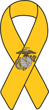 USMC Yellow Ribbon Magnet Show your Marine Corp pride