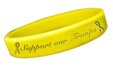 Support Our Troops Rubber Bracelet Show Your Support
