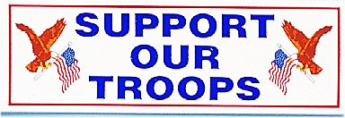 Bumper Sticker- Support Our Troops With Eagle