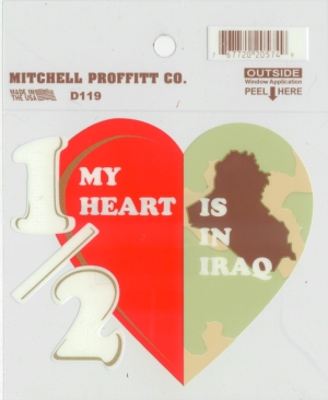 Decal- Half My Heart Is In Iraq