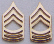 Master Sergeant Pin On Rank