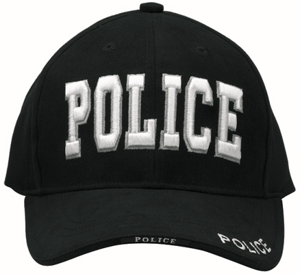 Police Cap Low Profile Puff Print