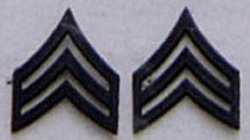 SGT Subdued Pin On Rank SERGEANT SUBDUED