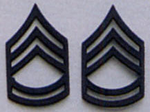 Sergeant First Class Subdued Pin On Rank