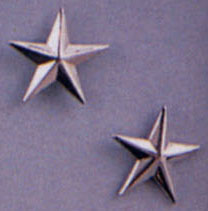 General Stars Silver Pin On