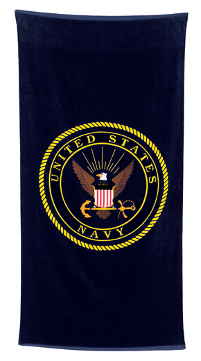 Navy Beach Towel Great gift item