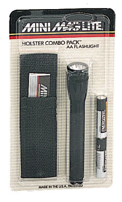 Mini Maglite Combo Pack comes with Batteries and Pouch. AA
